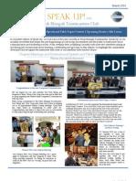 Telok Blangah Toastmasters Club Speak Up Newsletter March