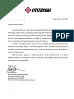 Letter of Recommendation - Boehm