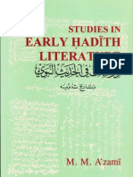 Studies In Early Hadith Literature By Shaykh Muhammad Mustafa Al Azami