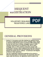 Subsequent Registration