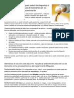 Alternativas de solución para reducir los impactos al ambiente derivados del uso de lubricantes en los procesos técnicos de mantenimiento