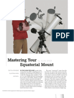 Mastering Your Equitorial Mount