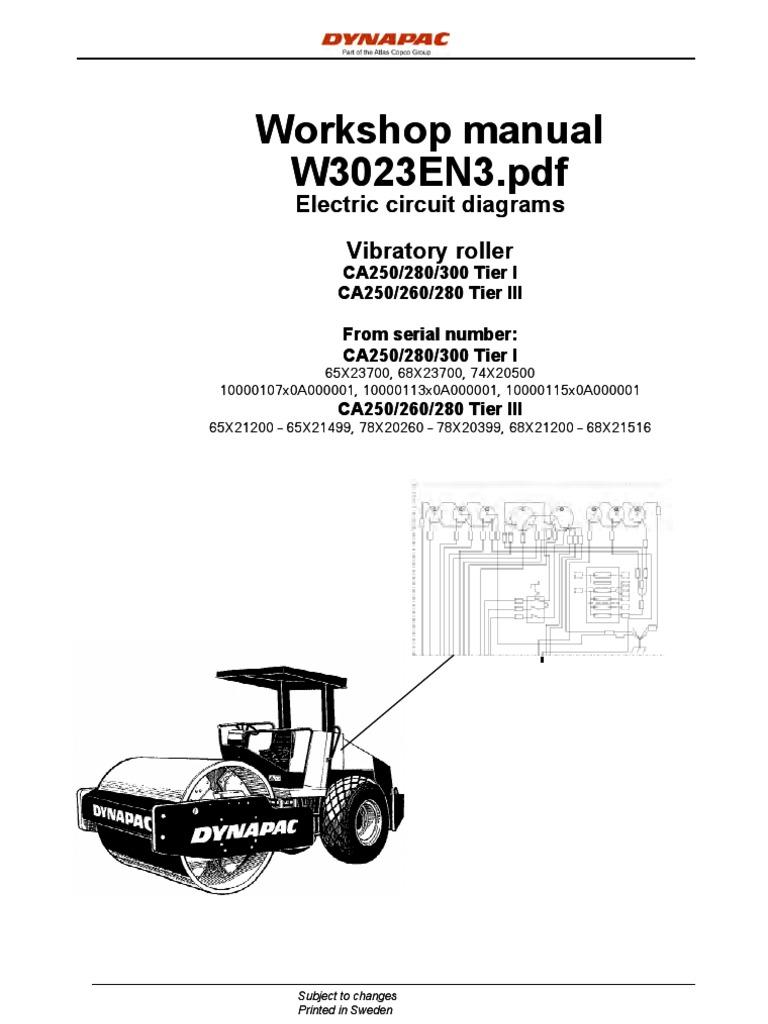 dynapac ca250 manual electrico cable battery electricity rh scribd com dynapac cc142 wiring diagram dynapac ca250 wiring diagram