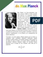 Teoría Max Planck