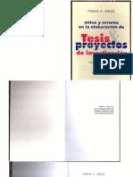 Fidias G Arias - Mitos Y Errores en La Elaboracion de Tesis Y Proyectos de Investigacion