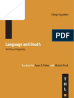 Giorgio Agamben, Karen E. Pinkus, Michael Hardt Language and Death the Place of Negativity 2006