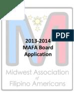 MAFA Board 2013-2014 Application