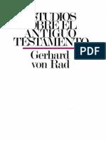 Gerhard Von Rad Estudios Sobre El Antiguo Testamento