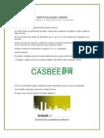 Certificaciones Verdes