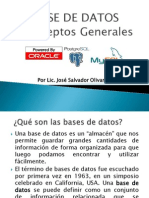 Semana 01 Conceptos Generales de Bases de Datos