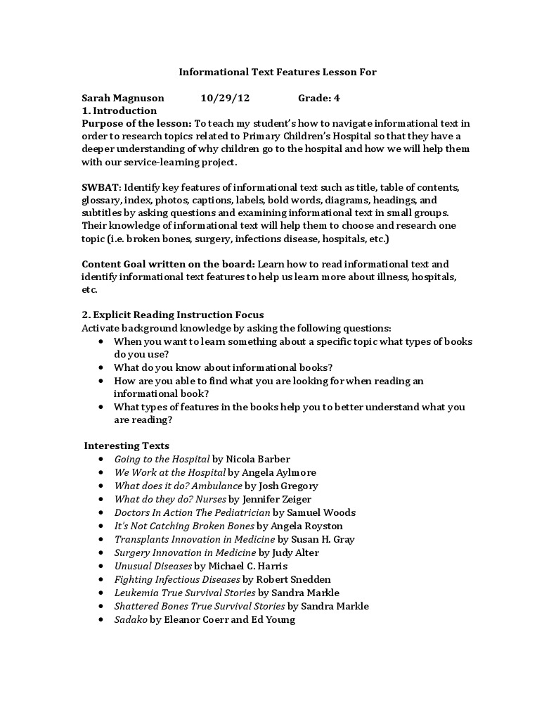 informational text topics
