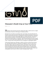20-03-13 Monsanto's Death Grip on Your Food