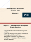 Chapter 10 - Human Resources Management