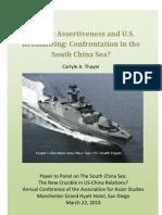 Thayer Chinese Assertiveness and U.S. Rebalancing