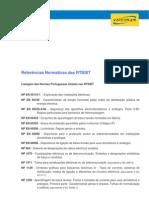 1228650386 Listagem Das Normas Portuguesas Citadas Nas Rtiebt