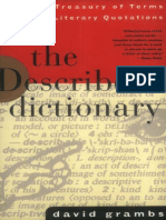 The Describer 27s Dictionary- Grambs David