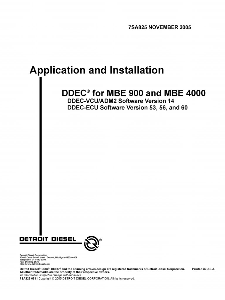 Manual de MBE 900 y 4000 Motores   Throttle   Diesel Engine