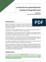 Representaciones sociales Moscovici