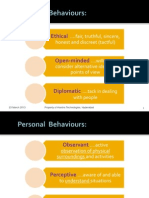 10. Personal Behaviours