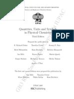 IUPAC Quantities, Units and Symbols 3th