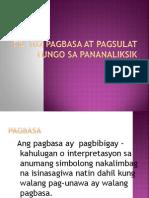 FIL 102 Pagbasa at Pagsulat Tungo Sa Pananaliksik