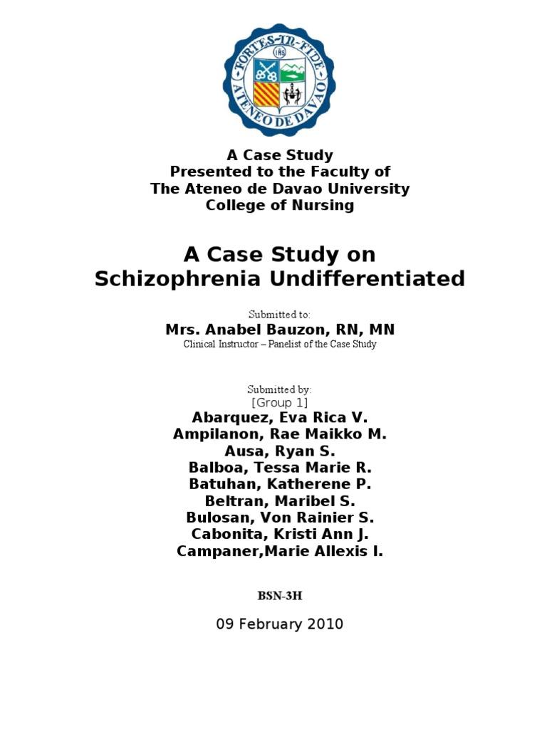 Sample case study of schizophrenia: case studies psyweb.