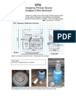 Emergency Primary Source Wood Gas