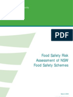 Food Safety Scheme Risk Assessment