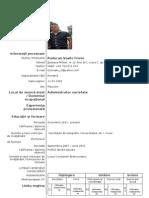 Model CV Completat