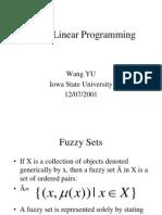 Fuzzy Linear Prog
