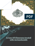 Acetazolamide in Glaucoma