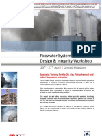 Firewater System Design and Integrity Workshop - Programme and Booking Form - UK - 25-27 April 2012