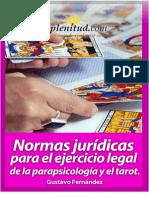 Normas Jurídicas Parapsicología y Tarot