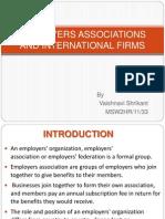 Employers Association and International Firm