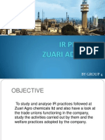 IR Final Presentation on zuari