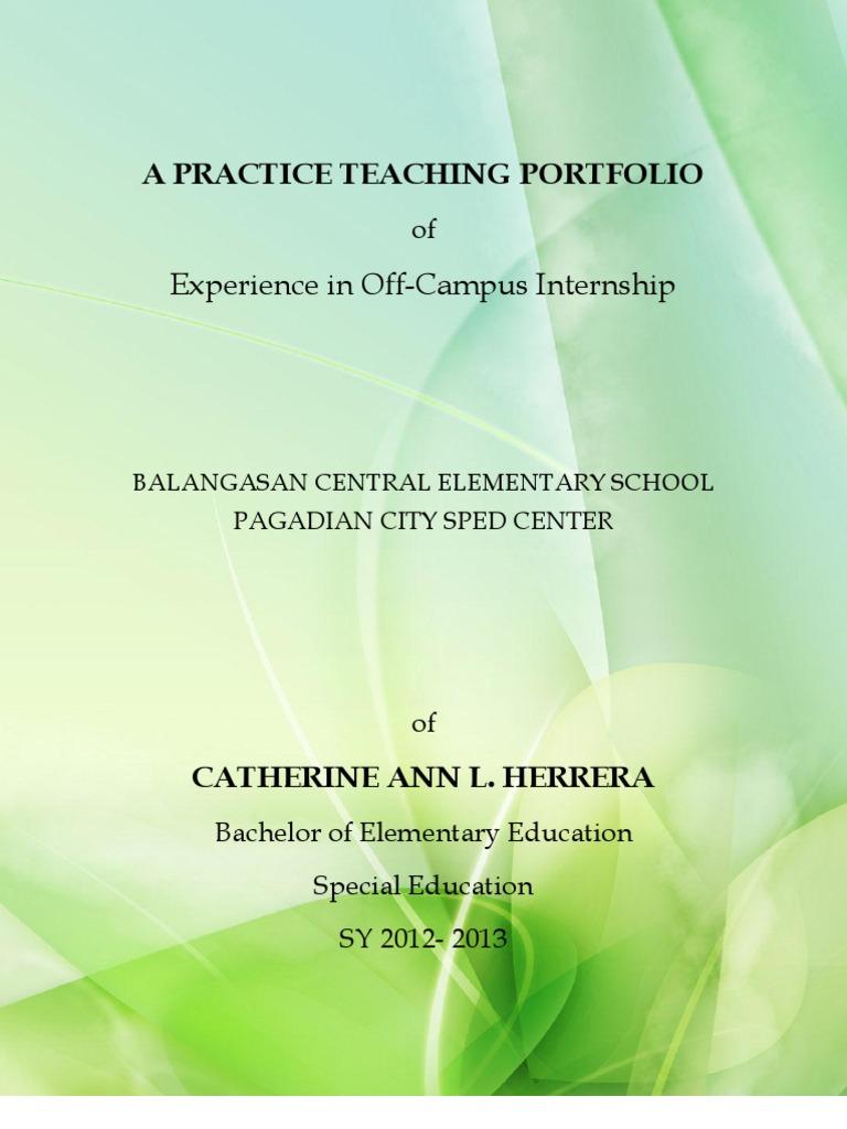 Teaching Portfolio Template | Sample Practice Teaching Portfolio Teachers Lesson Plan