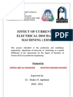 Effect of Current on EDM