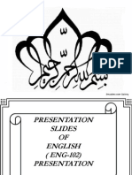 Presentation of ENGLISH