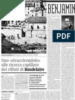 L'Opera Di Walter Benjamin Su Baudelaire Curata Da Giorgio Agamben - Alias de Il Manifesto (24.03.2013)
