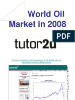 Tutor Oil Market 2008