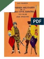 Uniformes militares de la Guerra Civil Española. José María Bueno