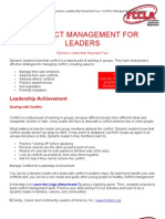 Conflict Management for Leaders