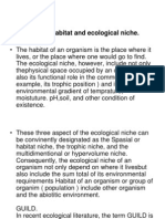 Concept of Habitat and Niche