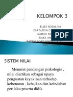 KELOMPOK 3 Sistem Nilai