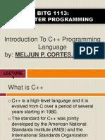 MELJUN CORTES  Introduction to C Programming Complete
