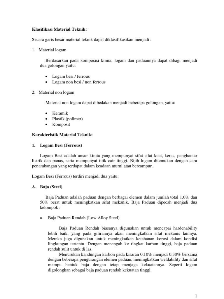 Klasifikasi material teknik ccuart Choice Image