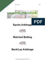 Sports Arbitrage by UCantLose