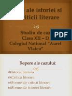 Forme Ale Istoriei Si Criticii Literare