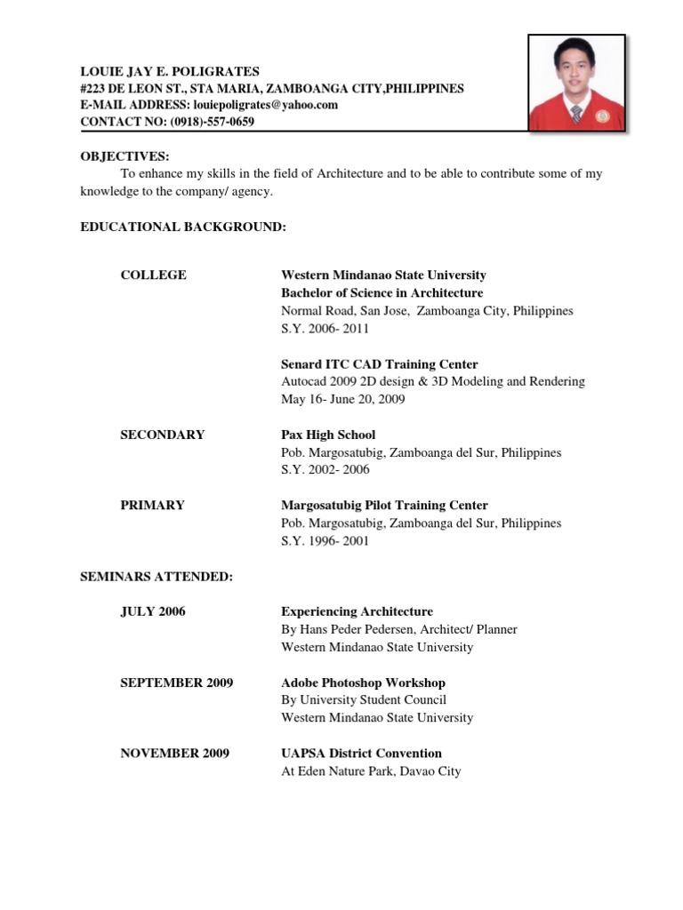 Resume Docx Mindanao Philippines