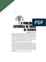 EXPERIÊNCIA NO ENSINO DA FILOSOFIA
